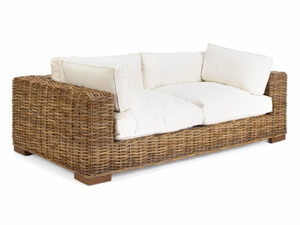 Rattan liege garten liege lounge massivholzm bel bei for Gebrauchte rattan lounge