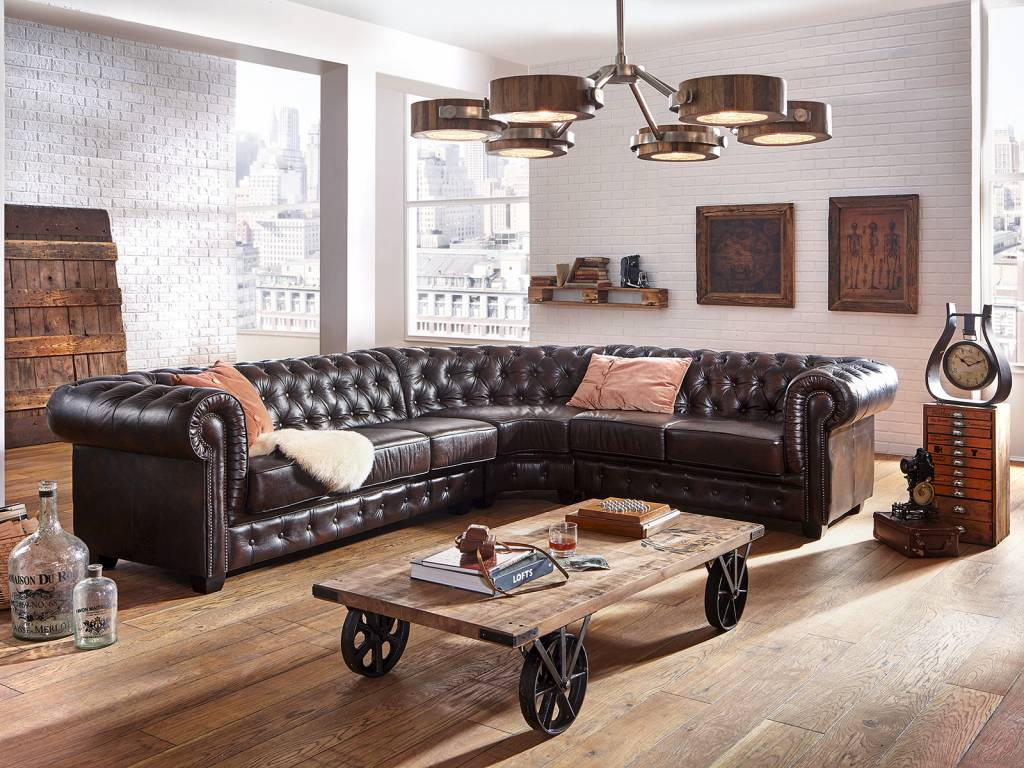 couch tisch massiv holz im industie style auf rollen massivholzm bel bei. Black Bedroom Furniture Sets. Home Design Ideas