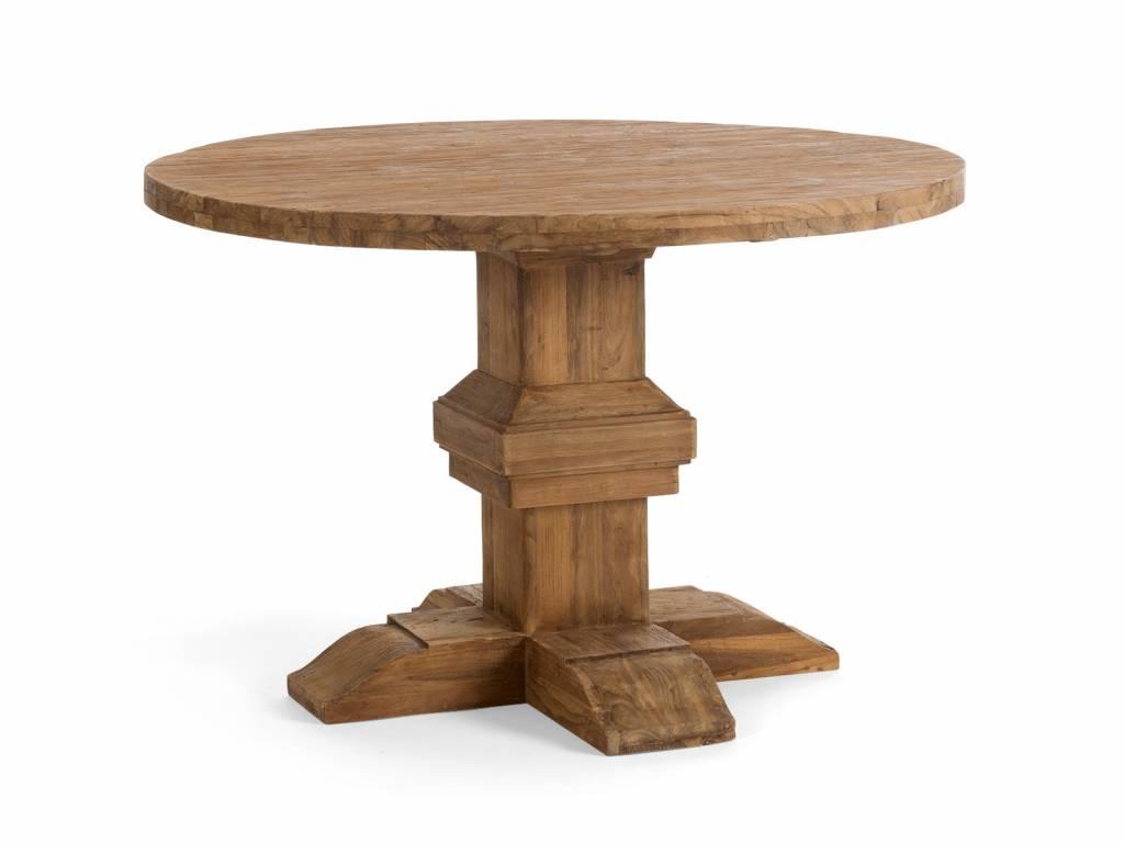 Runder tisch im retro design aus altholz teak for Kreuch tisch und design