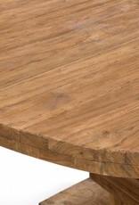 Runder Tisch Altholz Esstisch Teak