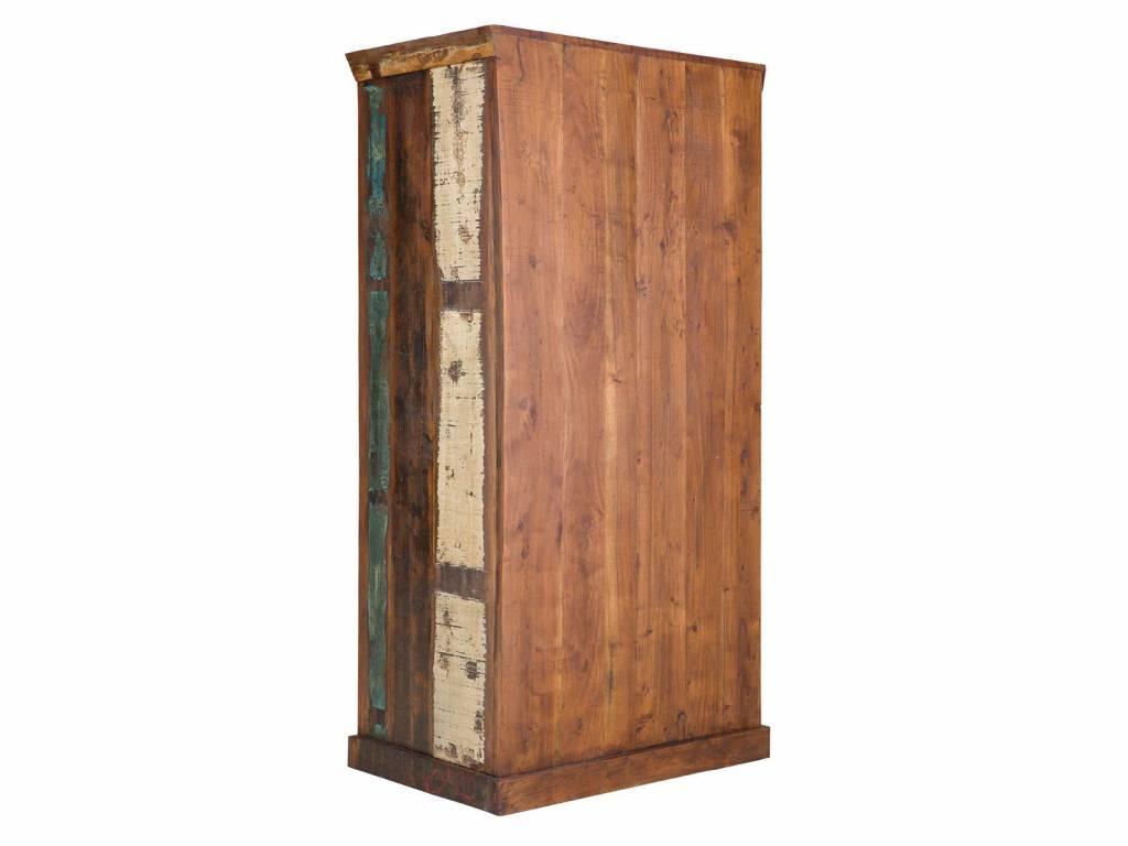 massiv holz kleiderschrank teak im vintage style altholz. Black Bedroom Furniture Sets. Home Design Ideas
