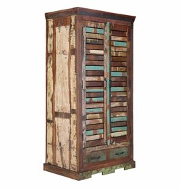 massiv Holz Kleiderschrank Teak 180 Altholz