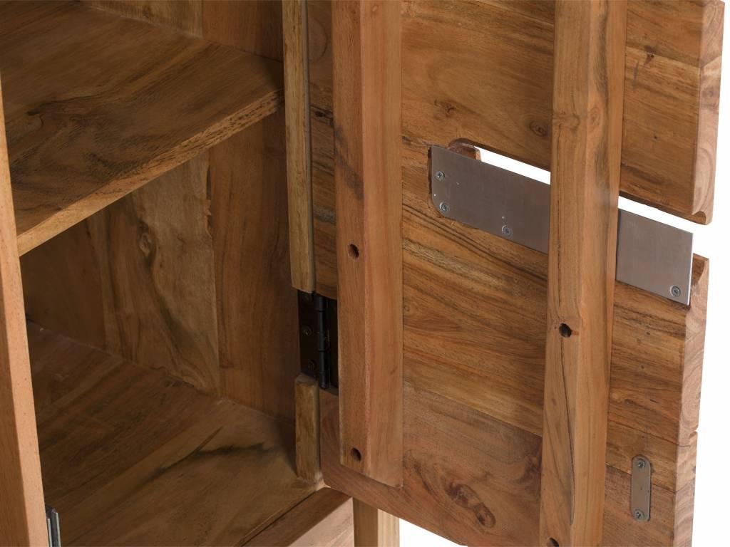 Brotschrank im modernen Landhausstil Holz - Akazie Der Küchenschrank ...
