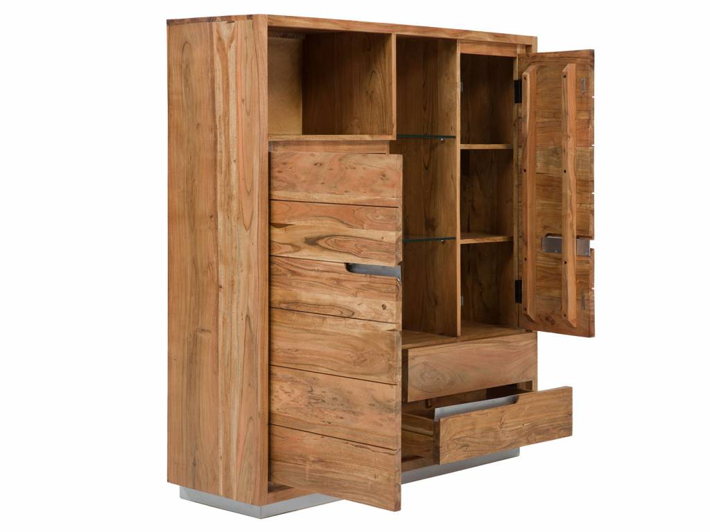 brotschrank im modernen landhausstil holz akazie der. Black Bedroom Furniture Sets. Home Design Ideas