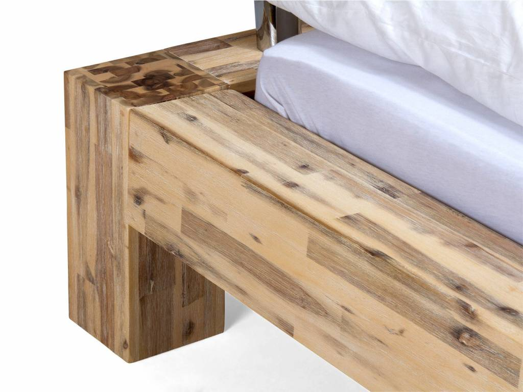 doppel bett massiv holz akazie massivholzm bel bei. Black Bedroom Furniture Sets. Home Design Ideas