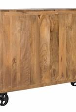 Sideboard im Industrie Design auf Rädern
