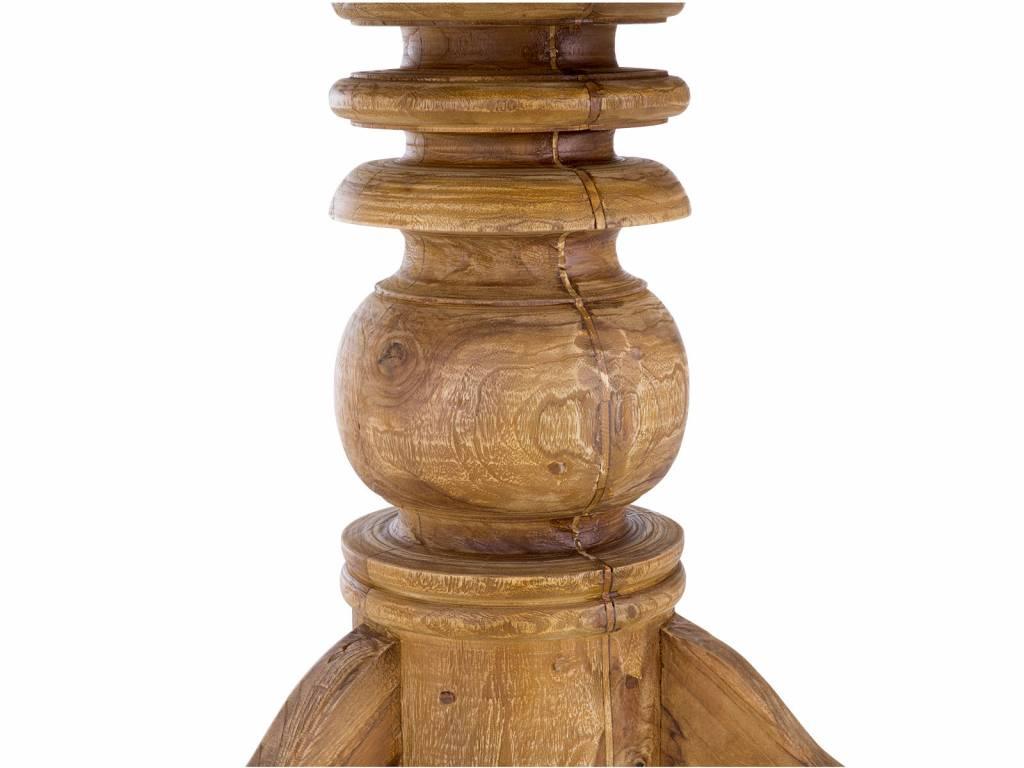 massiv Holz Tisch Teak rund