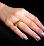 MARGRIET JEWELS Gouden asring SPAT
