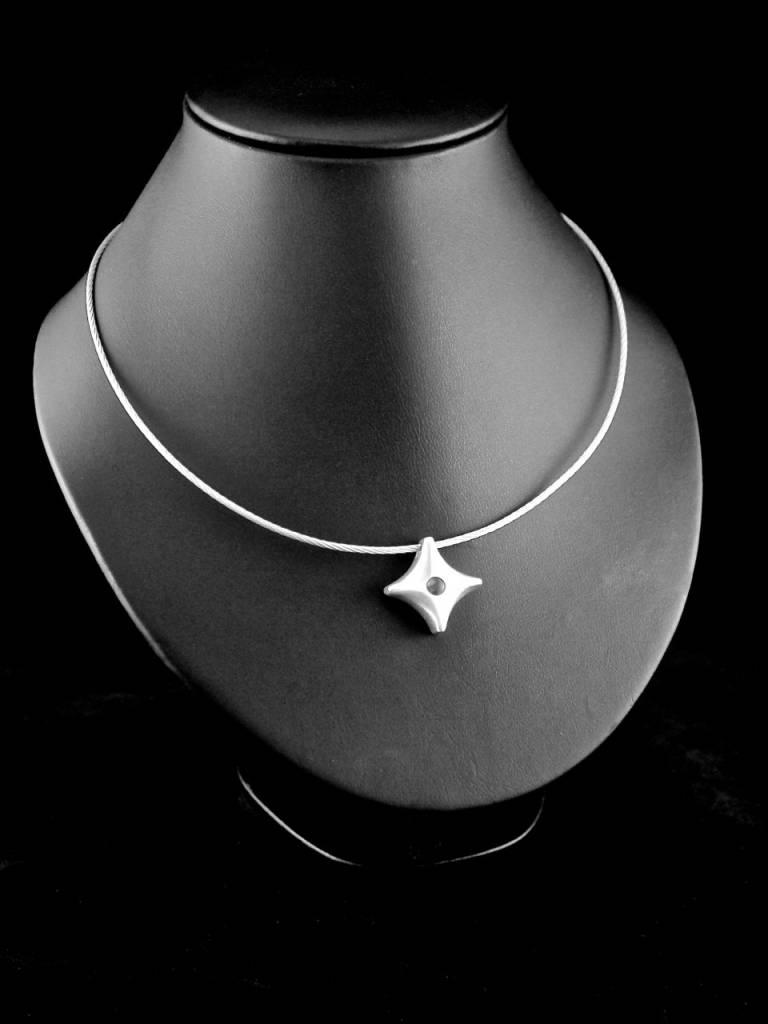 MARGRIET JEWELS Zilveren ashanger TWINKEL - Doorzichtig