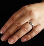 MARGRIET JEWELS Zilveren aanschuifring ZONNEBLOEM