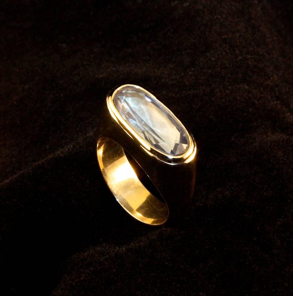 MARGRIET JEWELS Gouden asring GEM - Aquamarijn