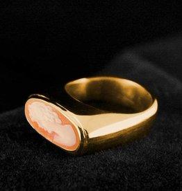 MARGRIET JEWELS Gouden asring GEM - Camee