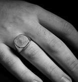 MARGRIET JEWELS Zilveren  herenring ALWAYS - vingerafdruk