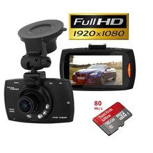 Dashcam Black Diamond Full HD incl. Sandisk 16Gb Ultra 80Mb/s Micro-SDkaart