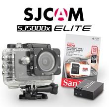 SJCAM SJ5000x Elite Sony IMX078 in Zwart, met extra accu en 32Gb Sandisk kaart