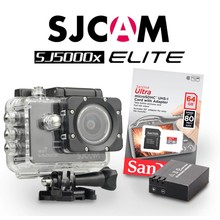 SJCAM SJ5000x Elite Sony IMX078 in Zwart, met extra accu en 64Gb Sandisk kaart