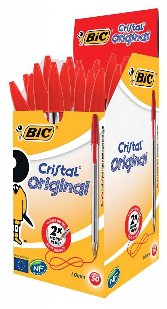 BiC Kugelschreiber Cristal rot