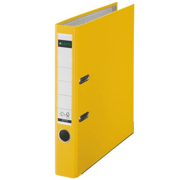 Leitz Qualitäts-Ordner 180° Plastik A4, 52 mm, gelb