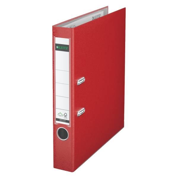 Leitz Qualitäts-Ordner 180° Plastik A4, 52 mm, rot