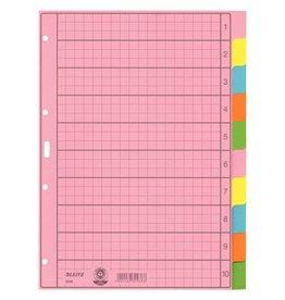 Leitz Papierregister Blanko, mit farbigen Taben, DIN A4