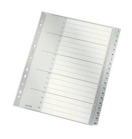 Leitz Plastik-Register Zahlen 1-20, 20 Blatt, DIN A4