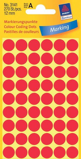 Avery Zweckform Markierungspunkte 12mm, rot