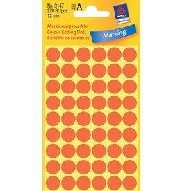 Avery Zweckform Markierungspunkte 12mm, leuchtrot