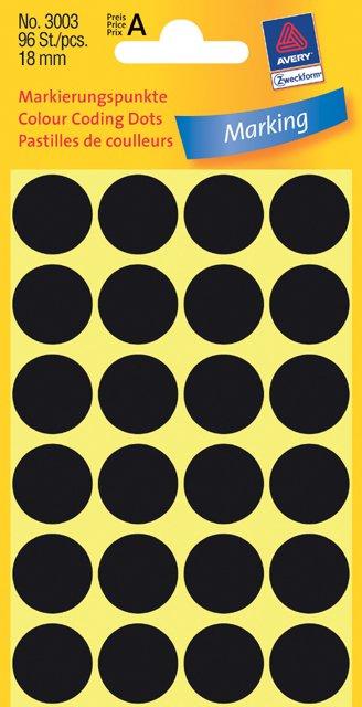 Avery Zweckform Markierungspunkte 18mm, schwarz