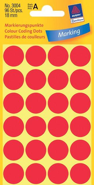 Avery Zweckform Markierungspunkte 18mm, rot