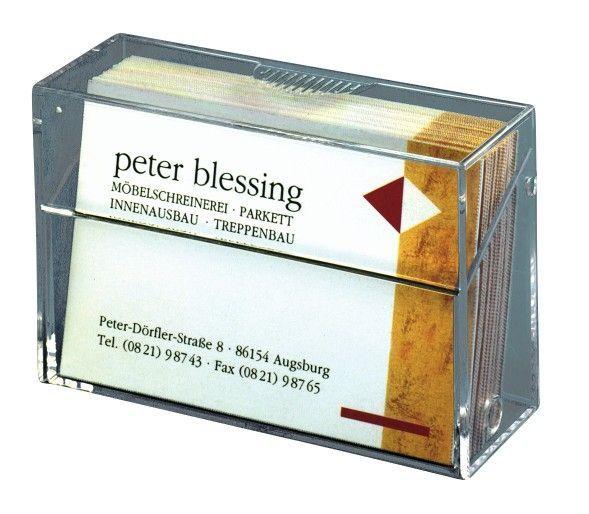 sigel Visitenkartenbox für max. 100 Karten bis 86 x 65 mm
