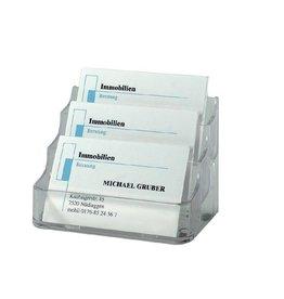 sigel Visitenkartenaufsteller für max. 3 x 70 Karten, Kartengröße bis 94 x 85 mm