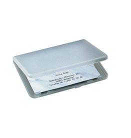 sigel Visitenkartenetui für max. 25 Karten, Kartengröße bis 89 x 57 mm