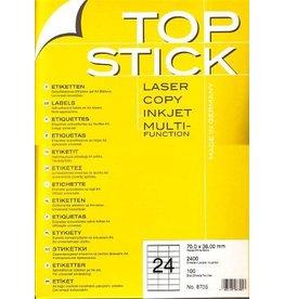 TOP STICK Etiketten 70 x 36 mm DIN A4 100 Blatt Packungen