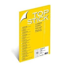 TOP STICK Etiketten 105 x 42,3 mm DIN A4 100 Blatt Packungen