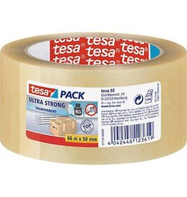 tesa Packband tesapack Ultra Strong transparent 50 mm x 66 m (B x L)