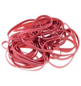 Gummibänder 50 g 130 x 4 mm Farbe: rot