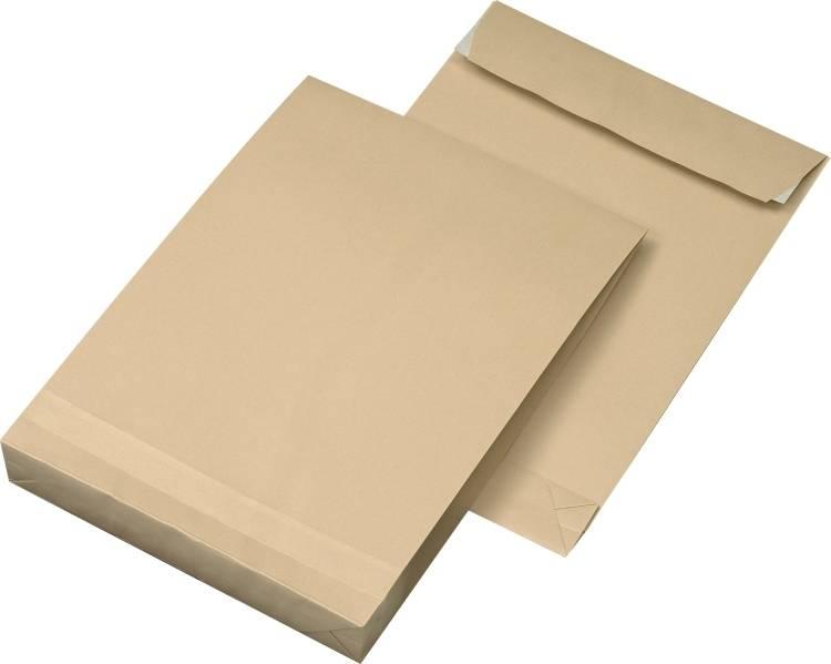 Faltentaschen DIN C4, Farbe: braun 250 St./Pack. 120 g/m²