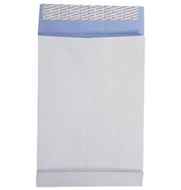 Faltentaschen DIN B4 fadenverstärkt ohne Fenster, Farbe: weiß 250 St./Pack. 130 g/m², Stehboden