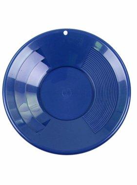 "SE SE Goudpan  10"" 2 riffelsoorten 25,5cm blauw"