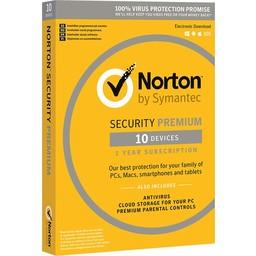 Symantec Norton Security Premium 3.0 met 25GB Backup - Nederlands / Frans / 10 Apparaten / 1 Jaar / Windows / Mac / iOS / Android
