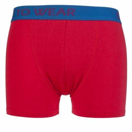 Boxershort; kleur rood