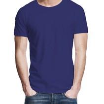 T-shirt cobalt blauw