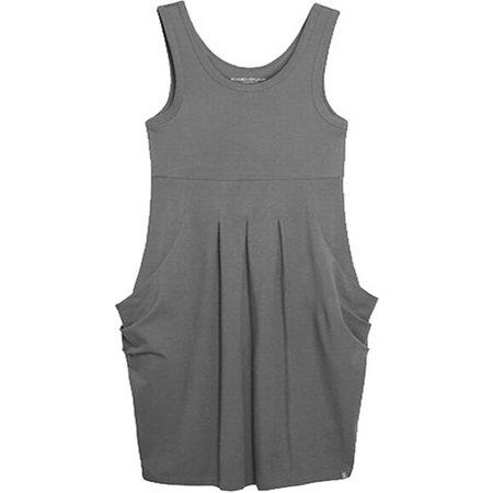 Mouwloze jurk kleur charcoal