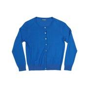 Vest met ronde hals, kleur cobalt blauw