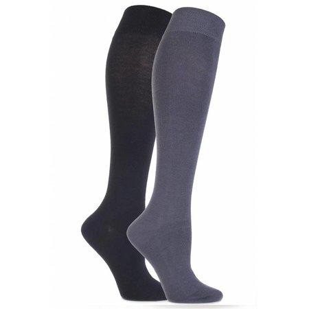 2 Paar kniekousen kleur grijs