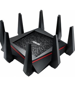 Asus ASUS RT-AC5300 Tri-band (2.4 GHz / 5 GHz / 5 GHz) Gigabit Ethernet Zwart, Rood draadloze router