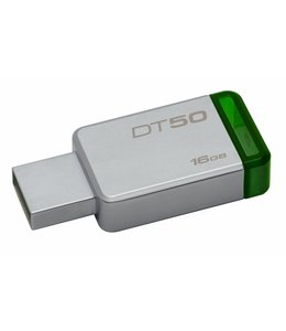 Kingston Technology DataTraveler 50 16GB 16GB USB 3.0 (3.1 Gen 1) Type-A Groen, Zilver USB flash drive