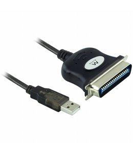 Ewent EW1118 USB IEEE1284 Zwart kabeladapter/verloopstukje