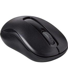 Rapoo M10 RF Draadloos Optisch 1000DPI Ambidextrous Zwart muis