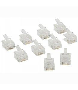 OEM Telecomconnector RJ12 Male PVC Transparant